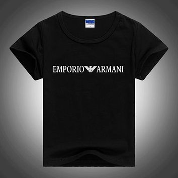 Armani Children Girls Boys Casual Shirt Top Tee