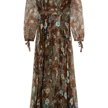 Paul & Joe - DEFILE Princess floral-print crinkled silk-chiffon maxi dress