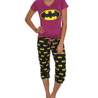 Batman Capri Sleep Set - Teen Clothing by Wet Seal