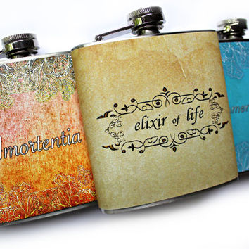 Love Potion Amortentia Harry Potter Inspired Flask 6 oz Stainless Steel