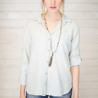Light Wash Chambray Shirt