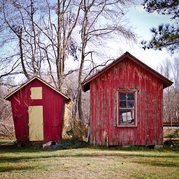 Rustic Red Barn Photo, Shabby Chic Farm Photo , Rural Photography, Small Town Americana, Fall, Eastern Shore Quaint, Home Decor, Wall Art