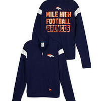 Denver Broncos Bling Boyfriend Half-Zip - PINK - Victoria's Secret
