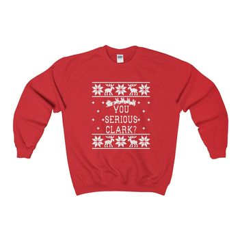 Christmas Vacation You Serious Clark Ugly Christmas Sweater