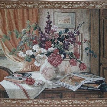 VONESC6 050352  European nostalgia s flowers sitting room TV setting wall adornment wall tapestries free  shipping