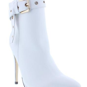 Buckled Up Boots - White