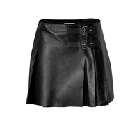 RED Valentino - Leather Pleated Mini-Skirt