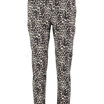 Kitty Leopard Print Mom Jean | Boohoo