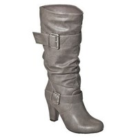 Women's Xhilaration® Kainda Heeled Boot - Grey 11