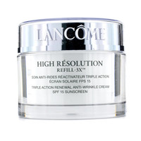 lancome high resolution refill 3x triple action renewal anti-wrinkle cream spf15 - made in usa 75g/2.6oz 0