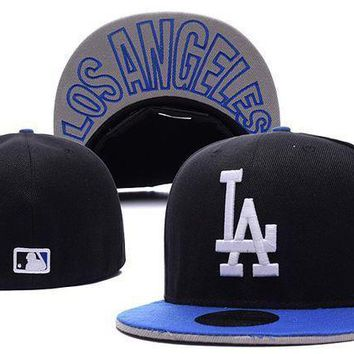 Los Angeles Dodgers New Era Mlb Authentic Collection 59fifty Cap Black White La