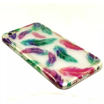 Feather Twinkle Silicagel Case Cover for iPhone & Samsung Galaxy-170928