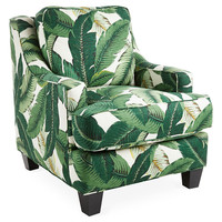 Mizner Club Chair, Banana Leaf, Club Chairs
