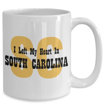 Heart In South Carolina - 15oz Mug
