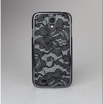The Black Lace Texture Skin-Sert Case for the Samsung Galaxy S4