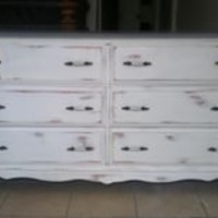 Shabby Chic White Dresser ,buffet,tv stand