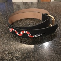 Kingsnake Print Gucci belt 48/120