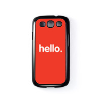 Hello Black Hard Plastic Case for Samsung Galaxy S3 by textGuy