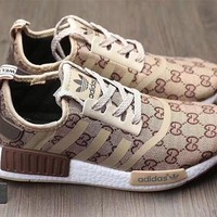 Adidas x Gucci x Louis Vuitton x Supreme NMD Trending Running Sports Shoes Sneakers Khaki G