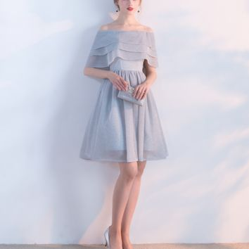 Fashion banquet evening dress new bridesmaid dress short student meeting dress dress dress summer