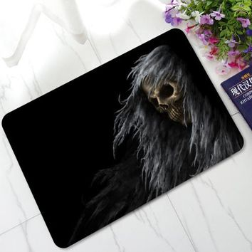 3D Evil Demon Eyes Skull Mats Anti-Skid Rubber Door Mats Kitchen Bathroom Hallway Welcome Decorative Area Rugs and Carpet - color 3, 40X60cm