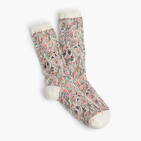 J.Crew Womens Paisley Trouser Socks