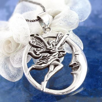 Enchanting Crescent Moon Fairy Necklace