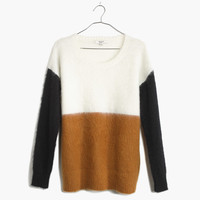 Brushed Pullover Sweater in Colorblock