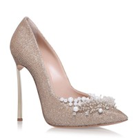Casadei Embellished Blade Pumps Gold | Harrods.com