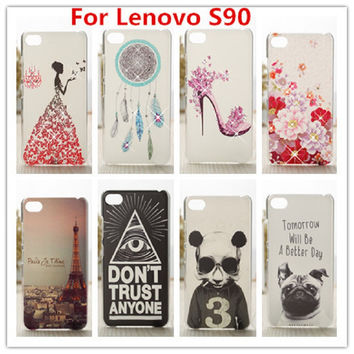 2016 New and Hot Case For Lenovo S90 Luxury Crystal Diamond 3D Bling Hard Plastic Case Cover For Lenovo S90 Cell Phone Case