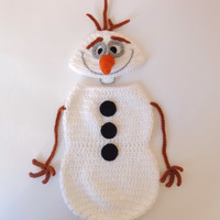 Olaf Snowman Frozen Crochet Hat With  Snuggle Cocoon  - Disney Hat Crochet Wig - Halloween Baby Hat - Choose your size