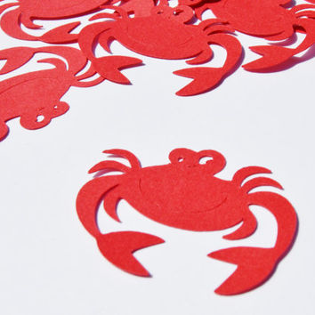 Under the sea, crab confetti, party decor, beach party, party confetti, crab party decor, table decor