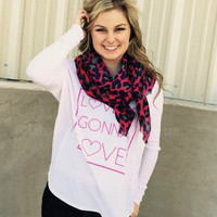 WILD ABOUT YOU SCARF IN FUCHSIA