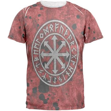 Viking Warrior Chaos Symbol Mens T Shirt
