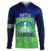 Seattle Seahawks Super Bowl XlVIII NFL Champions Poly Hoody Tee