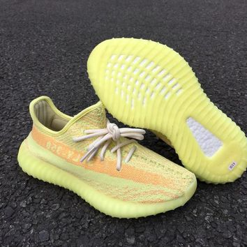 Adidas Yeezy 350 Boost V2 Fluorescent yellow 36----46