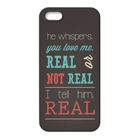 First Design Custom The Hunger Games Real Or Not Quotes Best Durable RUBBER Silicone Iphone 5 5S Case