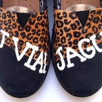 The Jaguars - RJ Vial Jaguars inspired TOMS shoes hand painted by Fruitful Feet