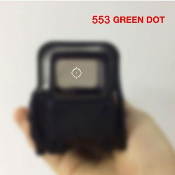 553 Quick Detachable Holographic Sight Short style Red&Green Dot Sight Rifle Hunting Scope with 20mm Rail Mounts for Airsoft