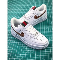 Supreme X Gucci X Nike Air Force 1 Af1 Low Sport Shoes