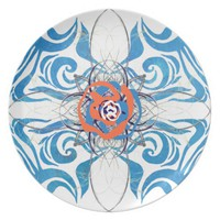 New Deco Blue Dinner Plate