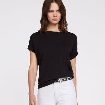 ALLSAINTS CA: Womens Imogen Boy T-Shirt (black)
