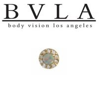 Body Vision BVLA 14kt Yellow White Rose Gold Altura Threaded End White Opal Genuine Diamond Accents 18g 16g 14g 12g [10-0542 AlturaDiamondThreaded] - $407.00 : Diablo Body Jewelry, The Art of High Quality