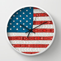 USA Wall Clock by Bianca Green
