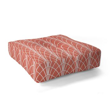 Heather Dutton Arcada Persimmon Floor Pillow Square
