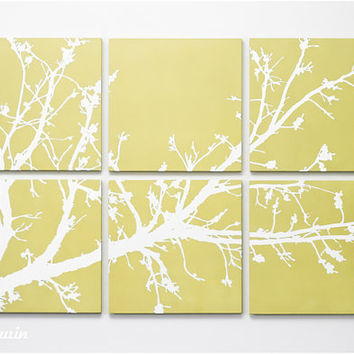 Branches in Bloom Original Painting in Custom Colors by RightGrain