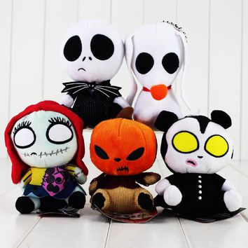 The Nightmare Before Christmas Jack Skellington Sally Lock keychain keyring pendant Plush Doll Toy