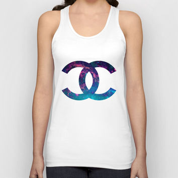 GALAXY CHANEL {BLACK} Unisex Tank Top by natalie sales