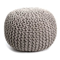 Round Woven Bohemian India Made Pouf in 5 Colors