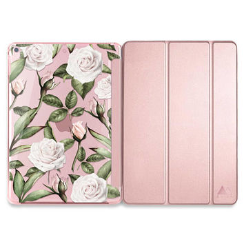 Fall iPad Pro 10.5 Case Floral iPad Pro Smart Cover Rose Gold iPad Case Rose iPad Pro 10.5 Case Rose Gold iPad Pro Case Fall Tablet Cases
